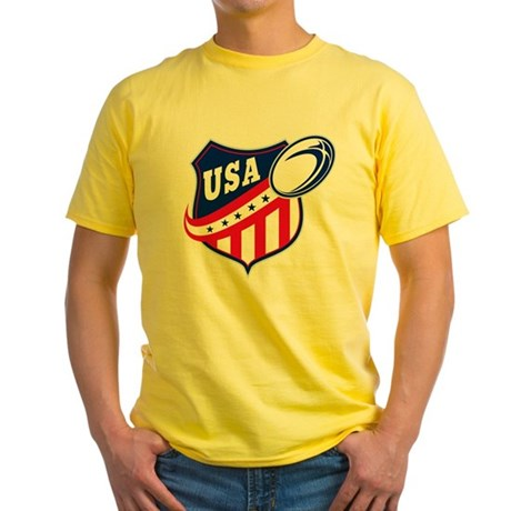 American rugby usa Yellow T-Shirt