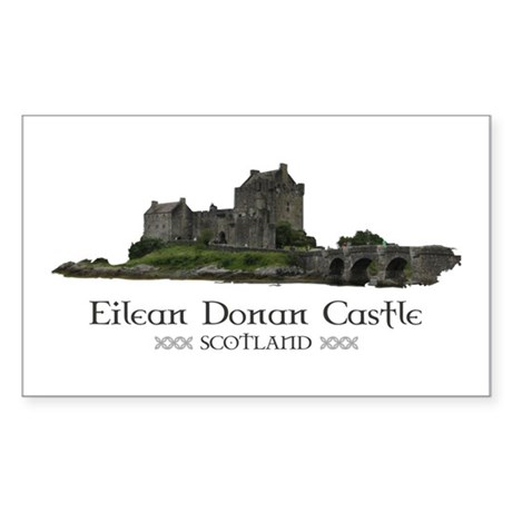 Eilean Donan Castle Sticker (Rectangle)