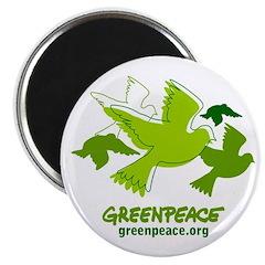 Green doves magnet