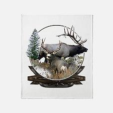 Big game elk and deer Throw Blanket