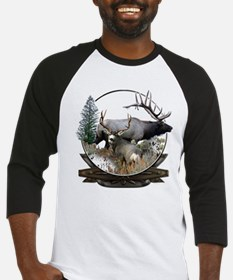 Big game elk and deer Baseball Jersey