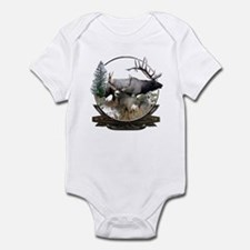 Big game elk and deer Infant Bodysuit
