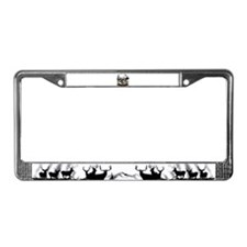 Big game elk and deer License Plate Frame