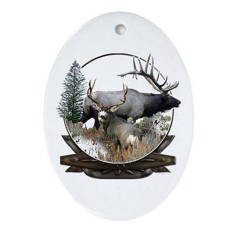 Big game elk and deer Ornament (Oval)