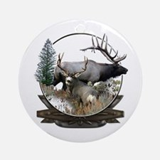 Big game elk and deer Ornament (Round)