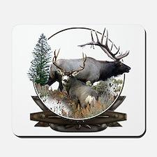 Big game elk and deer Mousepad