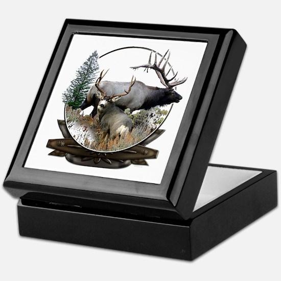 Big game elk and deer Keepsake Box