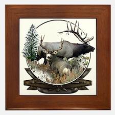 Big game elk and deer Framed Tile