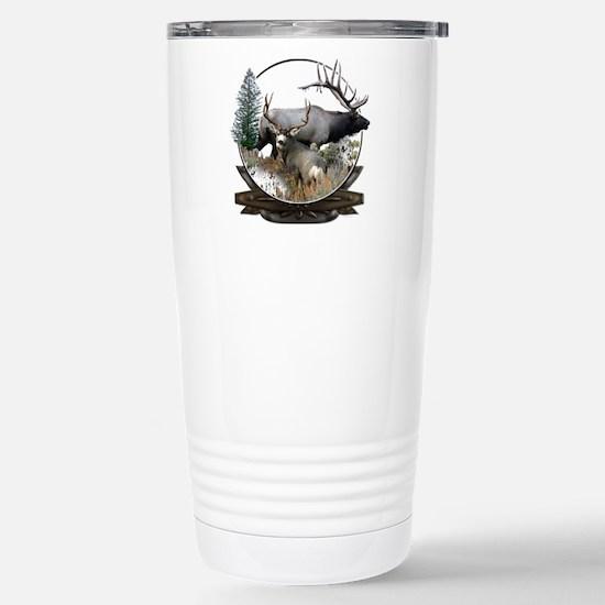 Big game elk and deer Stainless Steel Travel Mug
