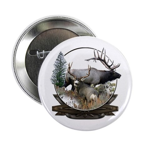 "Big game elk and deer 2.25"" Button"