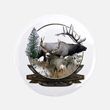 "Big game elk and deer 3.5"" Button"