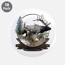 "Big game elk and deer 3.5"" Button (10 pack)"