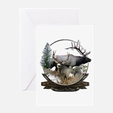 Big game elk and deer Greeting Card