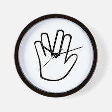 Vulcan greeting Wall Clock
