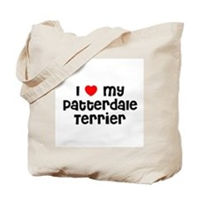 I * my Patterdale Terrier Tote Bag