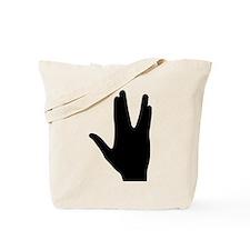 Vulcan greeting hand Tote Bag