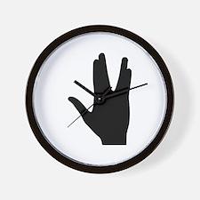 Vulcan greeting hand Wall Clock