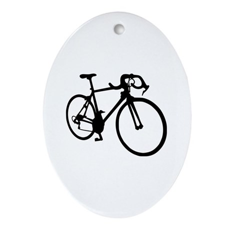 Racing bicycle Ornament (Oval)