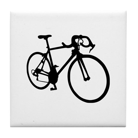 Racing bicycle Tile Coaster