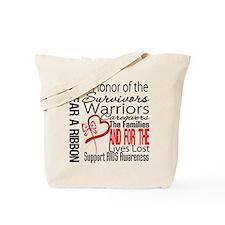 AIDS IWearRed Ribbon Tribute Tote Bag