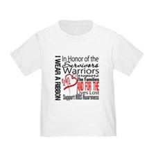 AIDS IWearRed Ribbon Tribute T