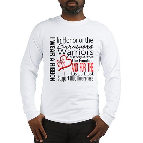 AIDS IWearRed Ribbon Tribute Long Sleeve T-Shirt