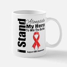 AIDS I Stand Alongside Hero Mug