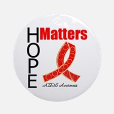 AIDS Hope Matters Ornament (Round)