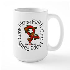 AIDS Hope Faith Cure Floral Mug