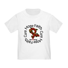 AIDS Hope Faith Cure Floral T