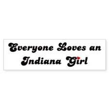 Loves Indiana Girl Bumper Bumper Sticker