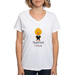 Starfleet Chick Blue Women's V-Neck T-Shirt