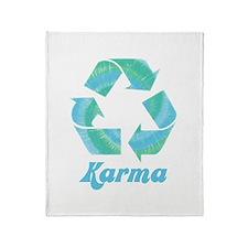 Recycle Karma Throw Blanket