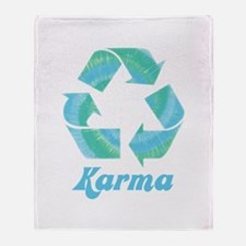 Recycle Karma Throw Blanket