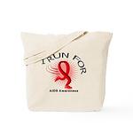 AIDS I Run For Awareness Tote Bag