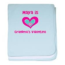 Maya is Grandma's Valentine baby blanket