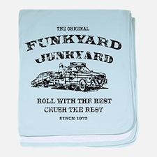 Funkyard Junkyard baby blanket