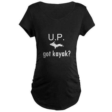 got kayak? Maternity Dark T-Shirt