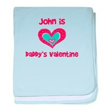 John is Daddy's Valentine baby blanket