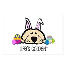 Golden Easter Bunny Postcards (Package of 8)