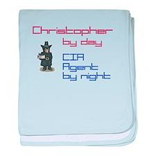 Super Hero Christopher baby blanket