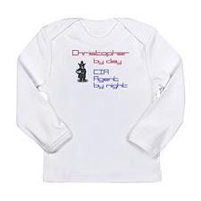 Super Hero Christopher Long Sleeve Infant T-Shirt