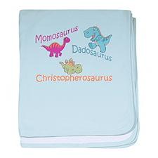 Mom, Dad & Christopherosaurus baby blanket
