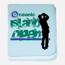 Oceanic Island Open baby blanket