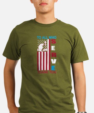 To All Who Serve Thank You T-Shirt