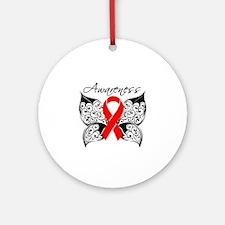 AIDS Noir Butterfly Ornament (Round)