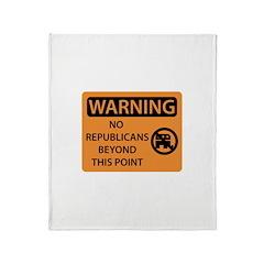 No Republicans Throw Blanket