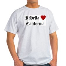 Hella Love California Ash Grey T-Shirt
