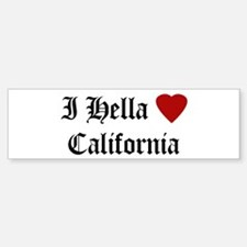 Hella Love California Bumper Bumper Bumper Sticker