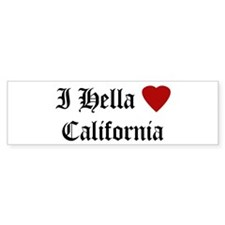 Hella Love California Bumper Bumper Sticker